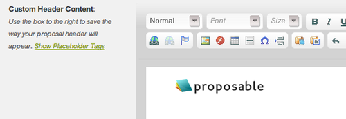Proposal Headers and Footers