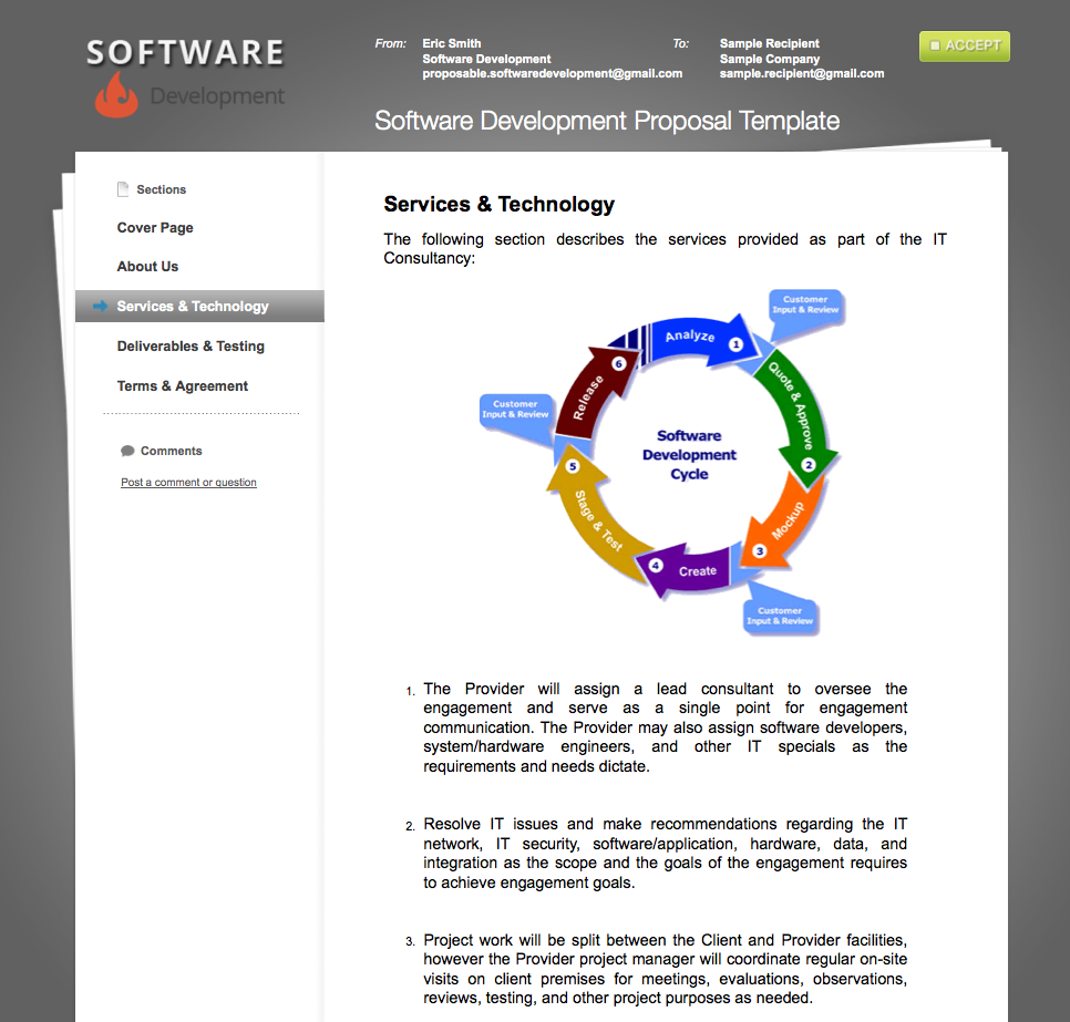Software Development Sample Proposal