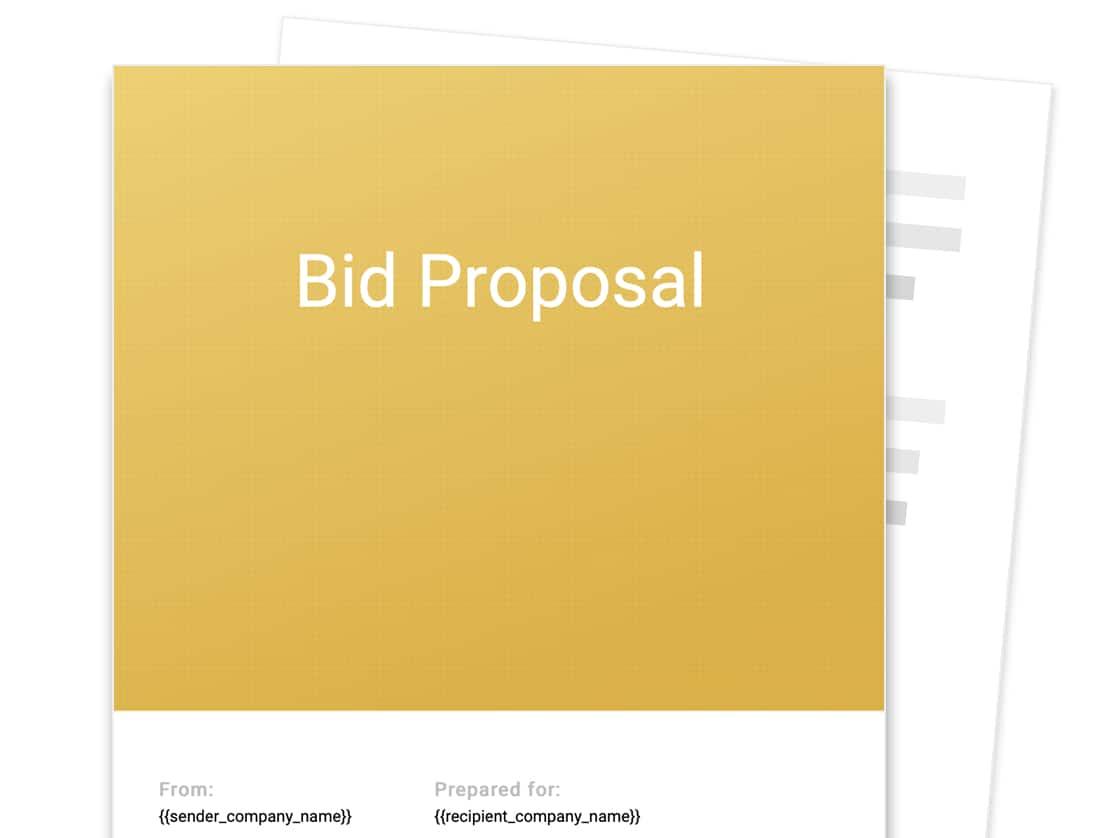 Bid Proposal Template Free Sample Proposable