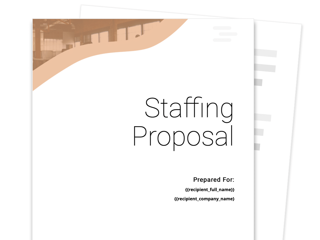 Staffing Agency Proposal Template Free Sample Proposable