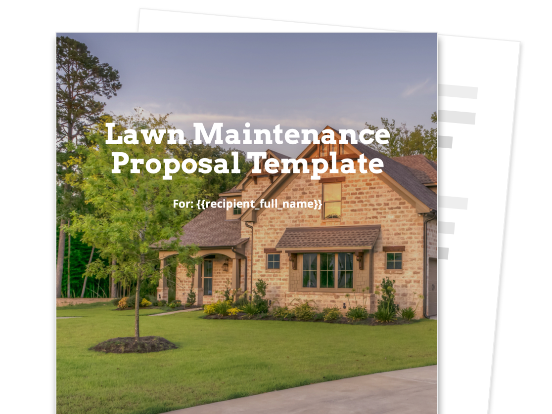 Lawn Maintenance Proposal Template Free And Fillable Proposable
