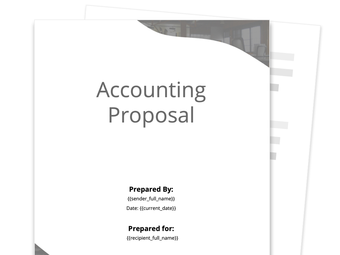 Accounting Proposal Template