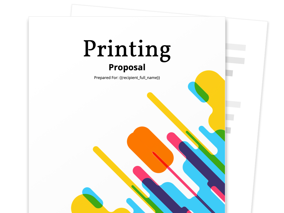 Printing Proposal Template