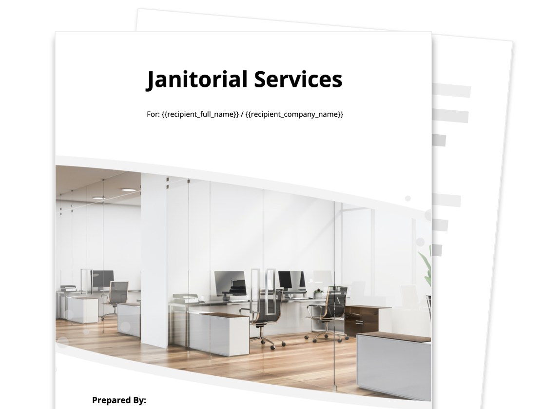 Janitorial Proposal Template