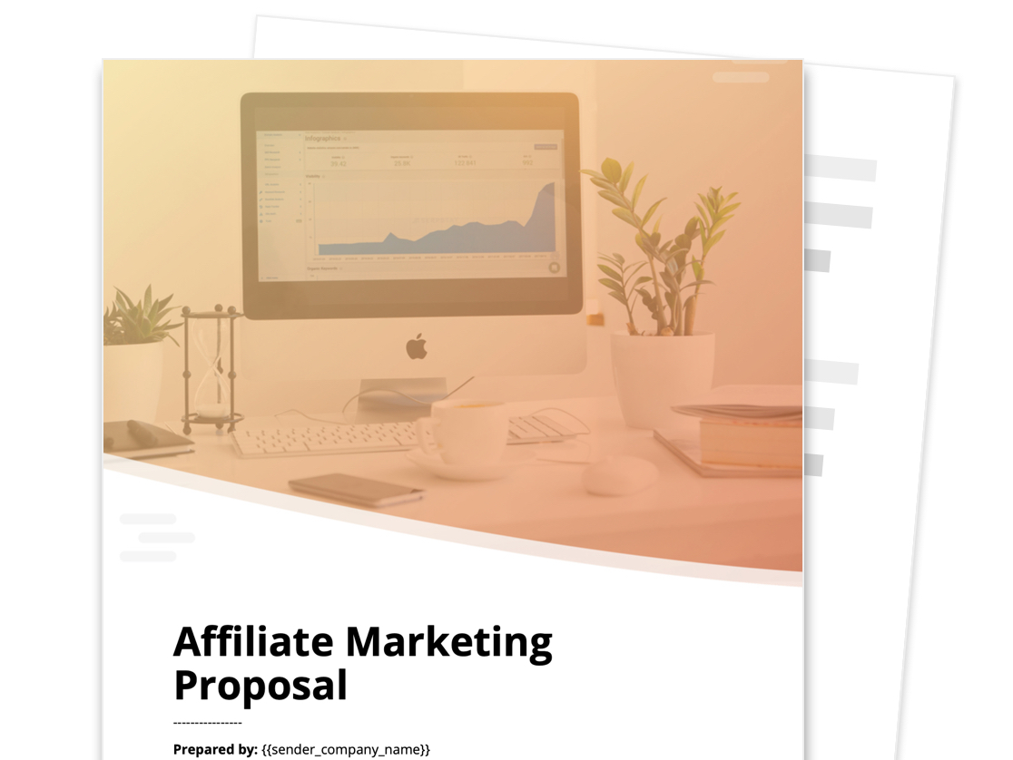 Affiliate Marketing Proposal Template